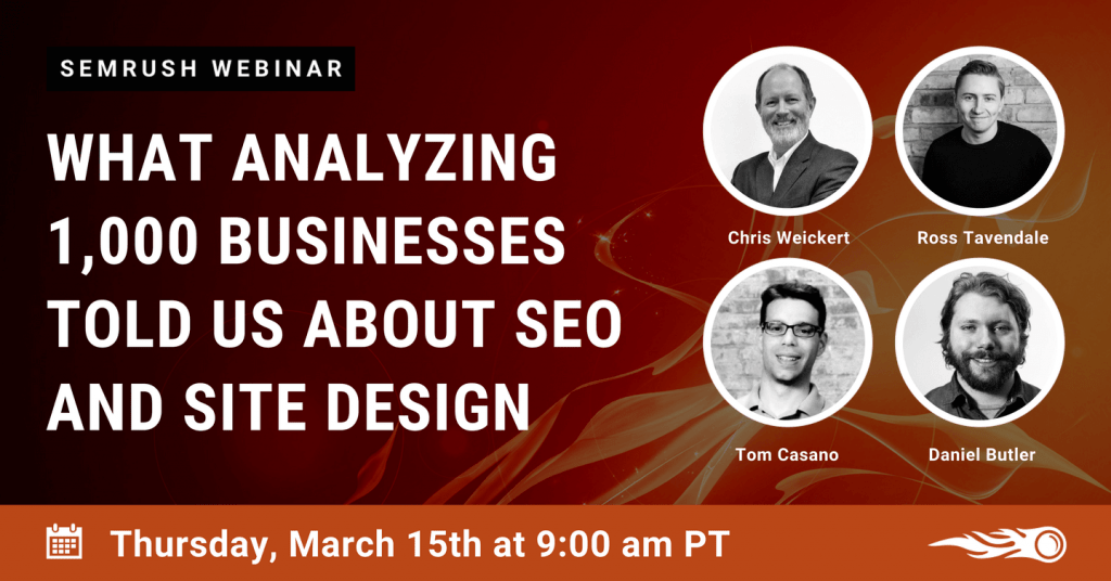 SEMrush Webinar March 2018