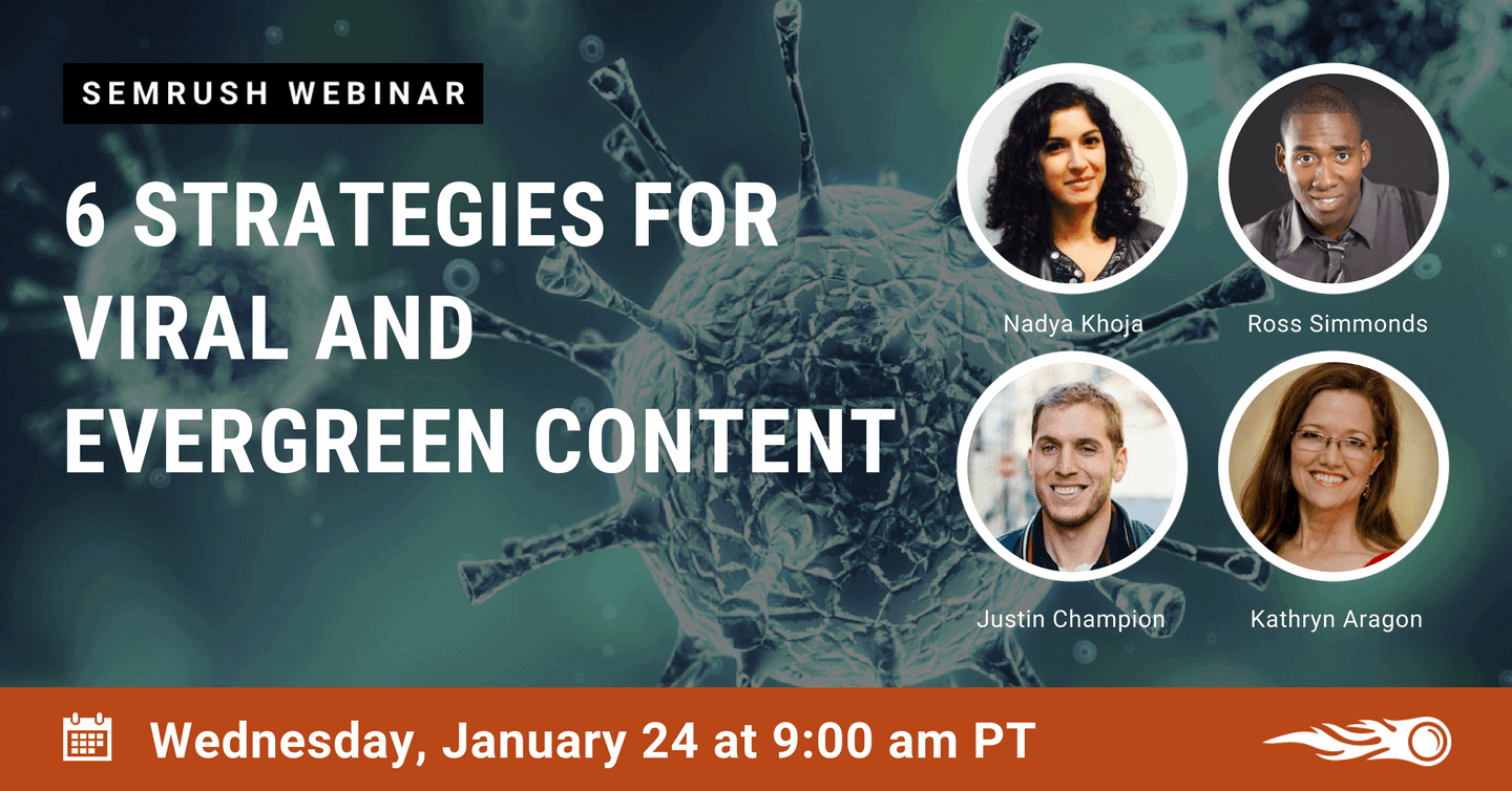 Evergreen Content Webinar by SEMrush