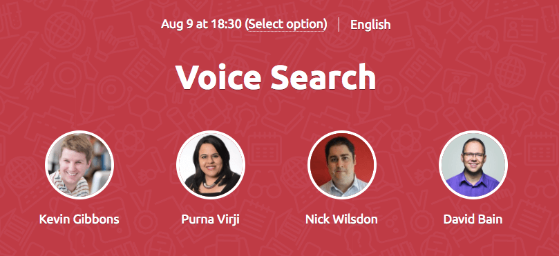 Voice Search Webinar