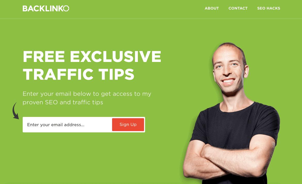 Backlinko Landing Page