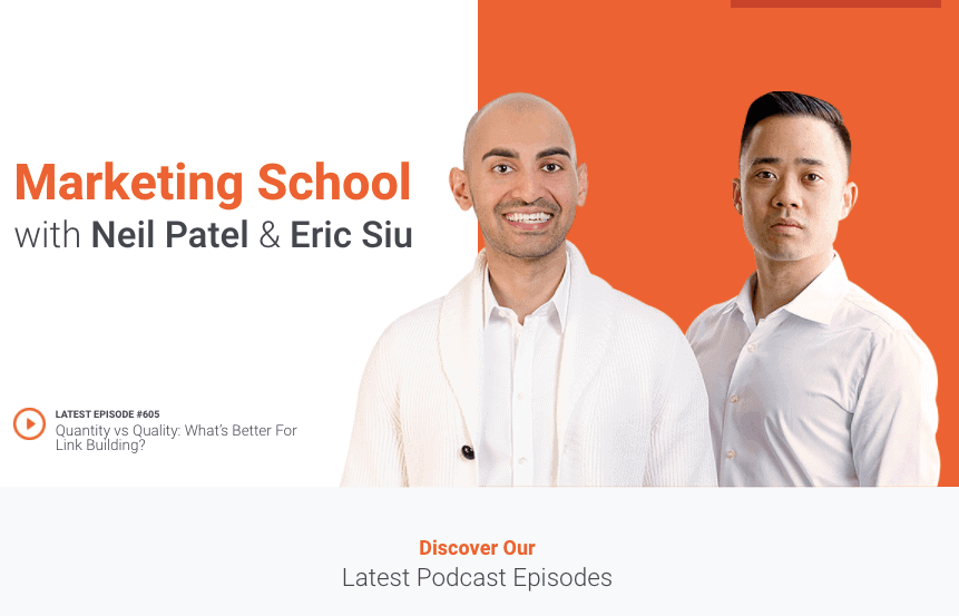 Marketing School Podcast with Neil Patel & Eric Siu - Best Marketing Podcasts