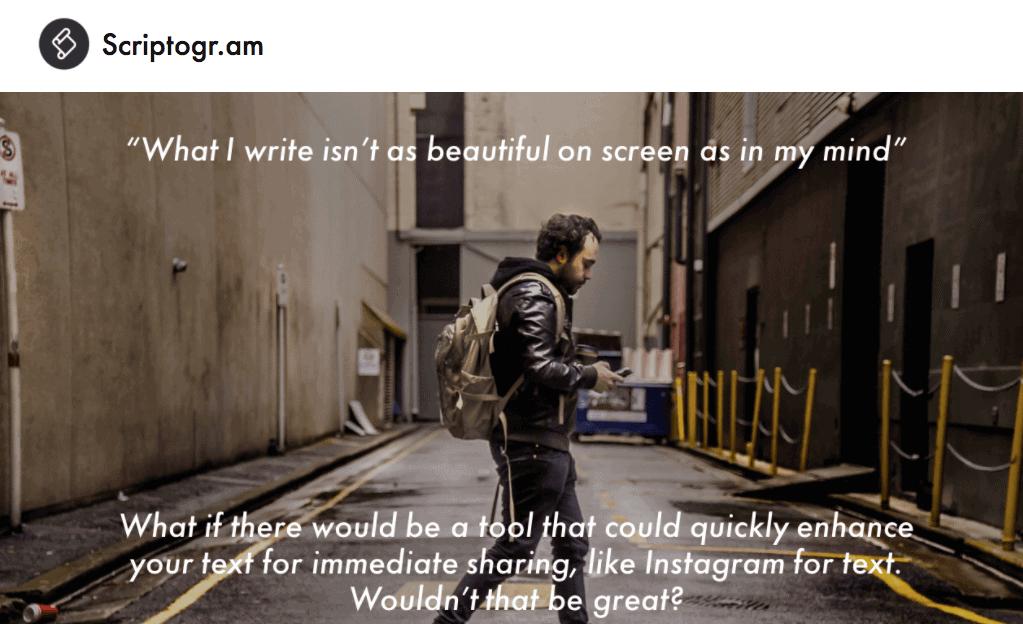 Scriptogram - Single Page Website Example