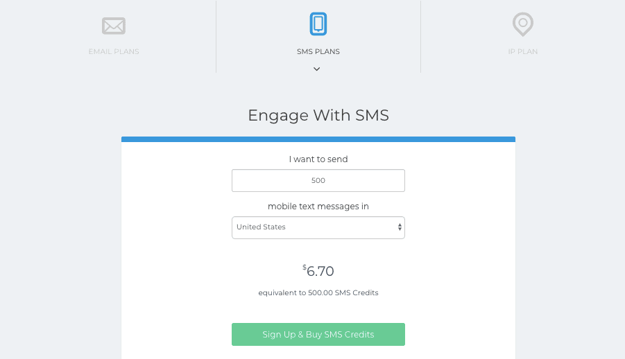 SendinBlue SMS Plan