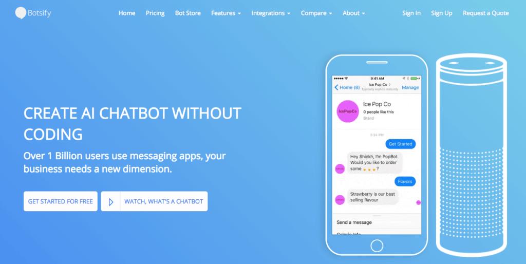 Botsify Chatbots - Leading Chatbot Platform Tools