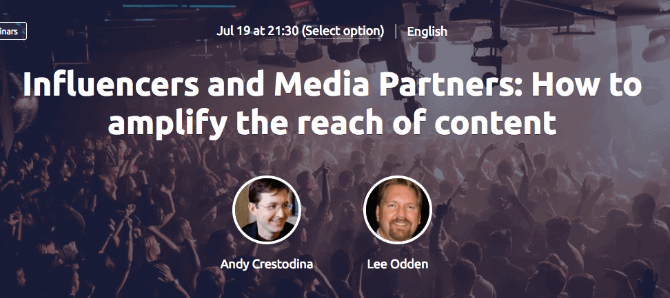SEMrush Webinar - Influencers and Media Partners