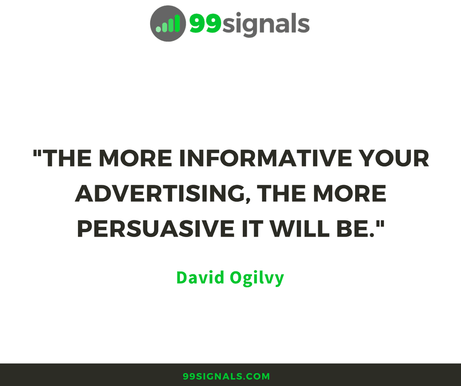 Ogilvy - Advertising Quote