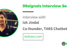 Interview with Ish Jindal, Co-founder of TARS - 99signals Interview Series