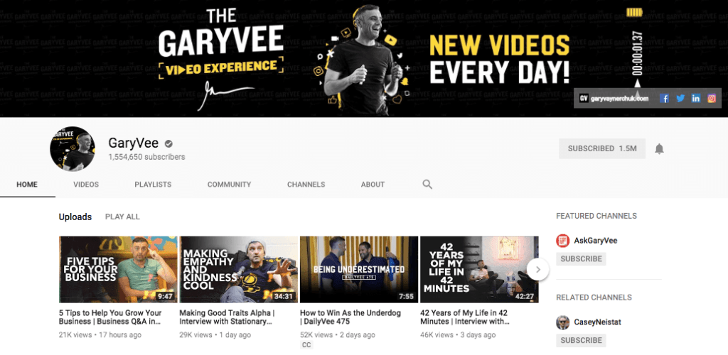 GaryVee YouTube