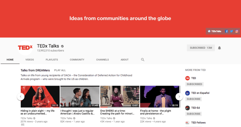TEDx Talks on YouTube