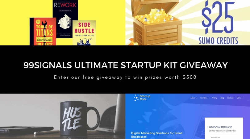 Enter the 99signals Ultimate Startup Kit Giveaway to Win Prizes Worth $500