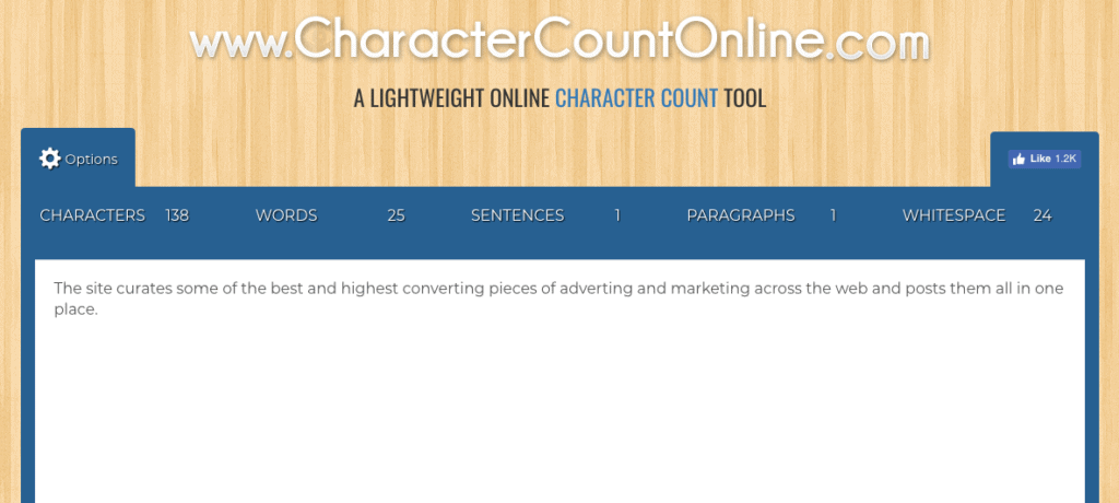Character Count Online is a free online character and word counting tool. It's free to use and works on any device.