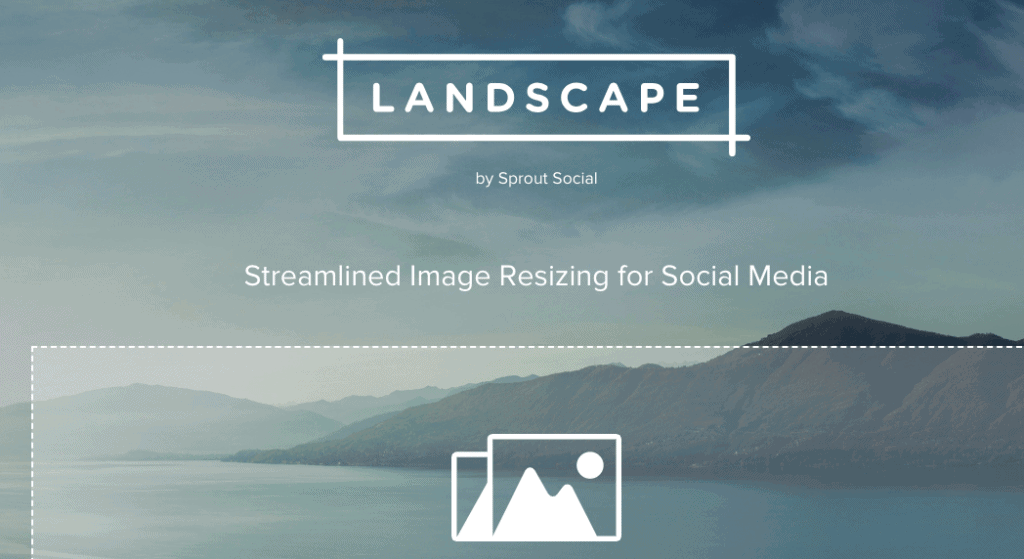 Landscape is a free image resizing tool which helps social media marketers produce multiple image sizes optimized for social media profiles, messages, and campaigns.