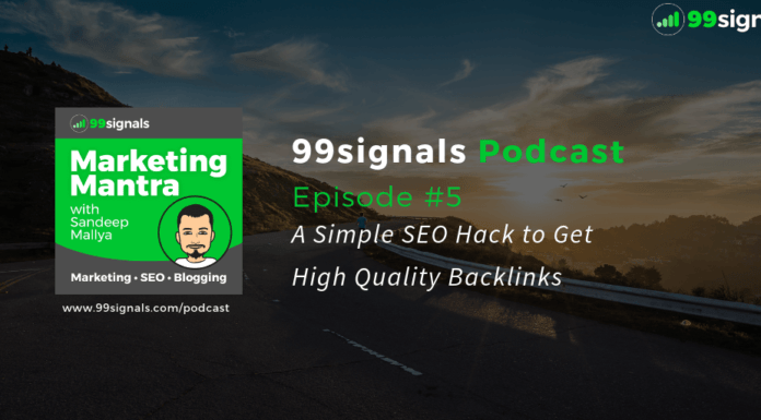 [99signals Podcast Ep. #5] A Simple SEO Hack to Get High Quality Backlinks