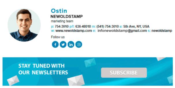 NEWOLDSTAMP Email Signature