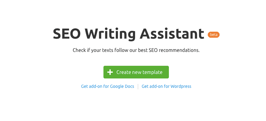 SEO Writing Assistant by SEMrush