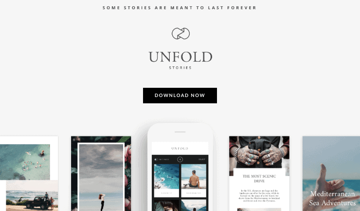 Unfold is a mobile app which lets you create beautiful stories on Instagram, Snapchat, and Facebook with minimal and easy-to-use templates.