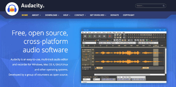 Audacity Free Podcast Editing Software