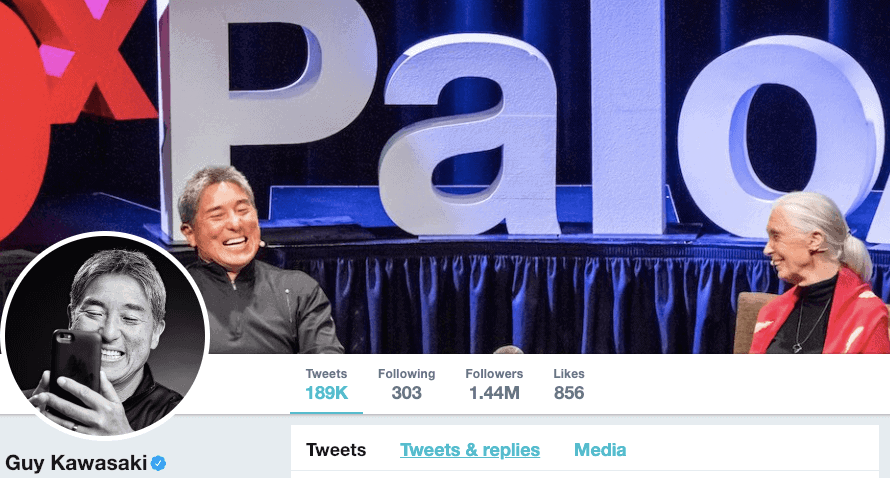 Guy Kawasaki on Twitter