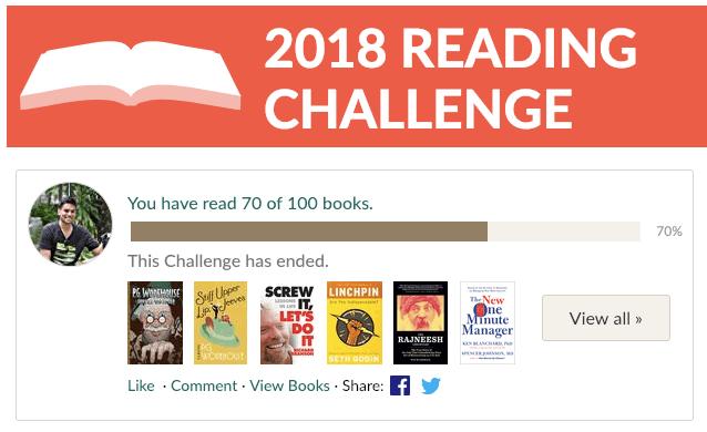 2018 Goodreads Reading Challenge