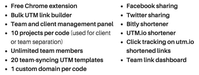 UTM.io AppSumo Features