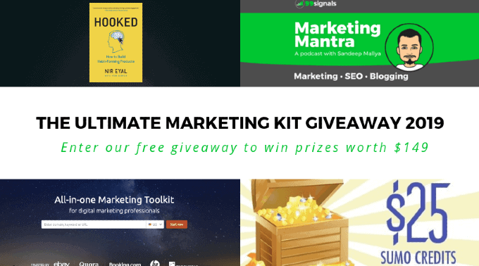 The Ultimate Marketing Kit Giveaway 2019 by 99signals
