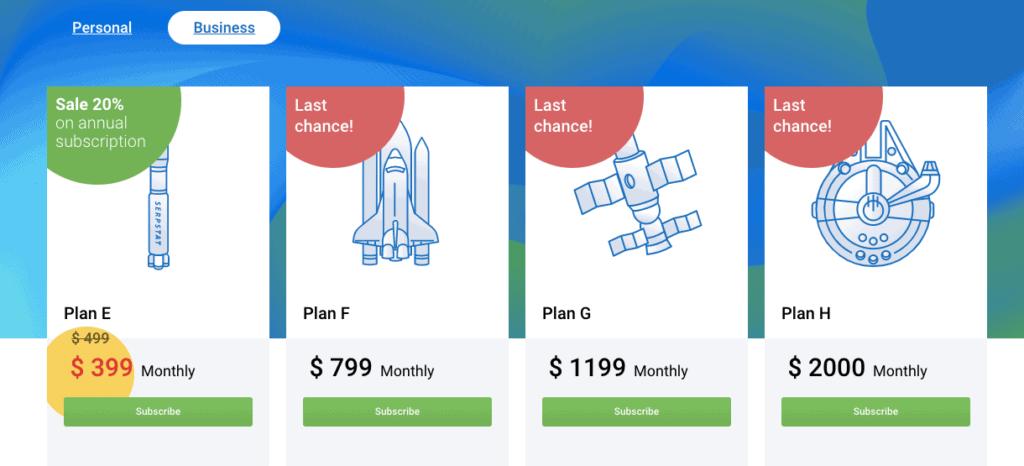 Serpstat - Business Plans