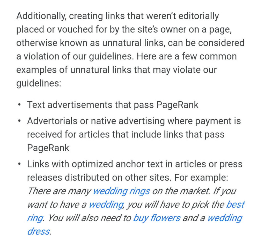 Google decided that paid links should not forward PageRank